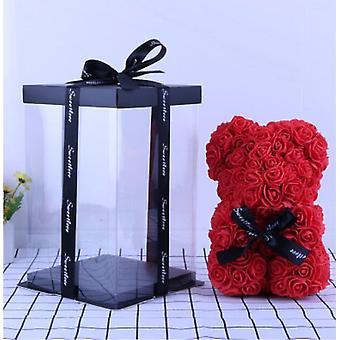 Rose Bear Artificial Flowers Teddy Bear Anniversary Christmas Valentine