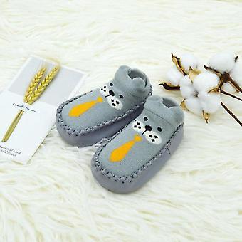 الجوارب الطفل لطيف للجنسين 0-2y الربيع / الخريف المشي الكلمة 11-14cm البومة الأسد الباندا