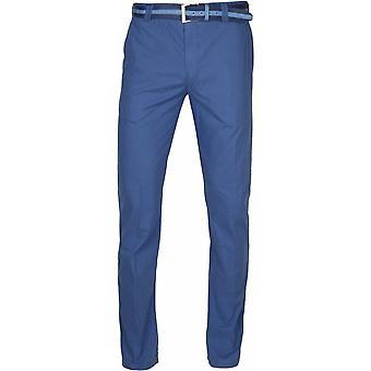 MEYER Meyer Big Mens Stretch Cotton Chino Blue