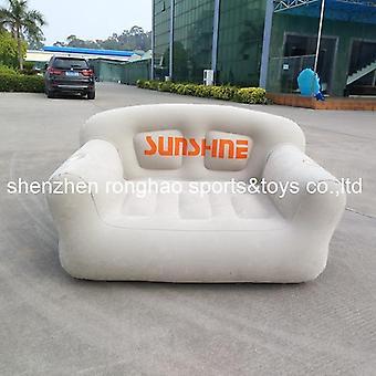 Flocked pvc gonflabile de viață Canapea Lounge Air Scaun cu suport cupa