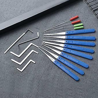 Hangslot met sleutels lock pick gebroken sleutel verwijderen haak kit / extractor set sloten