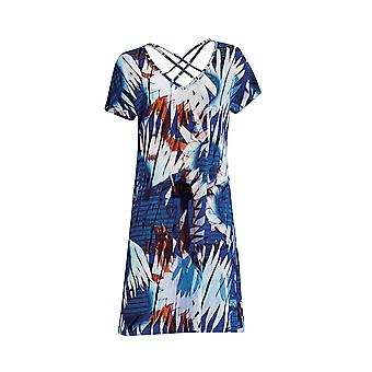 Sunflair City & Beach 23327-26 Women's Blue Geometric Beach Dress