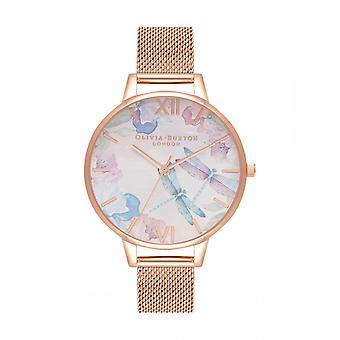 Olivia Burton Women's Watch 3 AIGUILLES OB16PP83 - Pink Dor Steel Bracelet