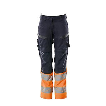 Mascot hi-vis kneepad trousers with stretch 19678-236 - womens, accelerate safe, diamond fit