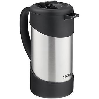 Termos 34 oz. isolerte rustfri gourmetkaffe trykk - sølv/svart