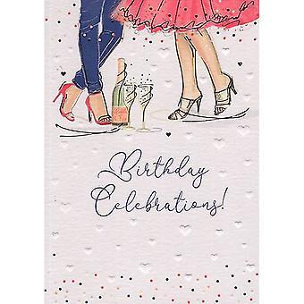 ICG Ltd Pretty In Peach Birthday Card-celebrations