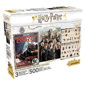Harry potter 500pc x 3 puzzle set