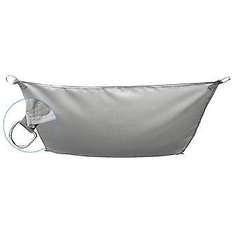 Zonnezeil 400x200 cm - Grijs - Schaduwdoek