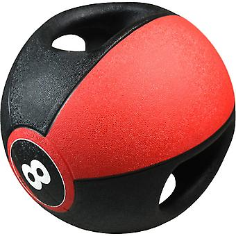 Pure2Improve medicine ball with handles 8 kg red