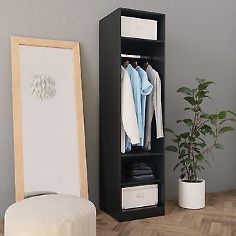 vidaXL armoire noir 50×50×200 cm panneau de particules