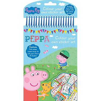 Peppa Pig Colour your own sticker set activity kids Gift Christmas Party