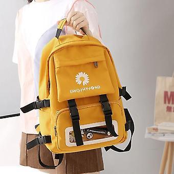 Oxford Waterproof School Backpack, Flowers Fashion Pouch