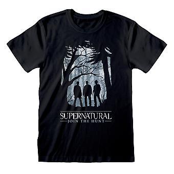 Supernatural Womens/Ladies Forest Silhouette Boyfriend T-Shirt