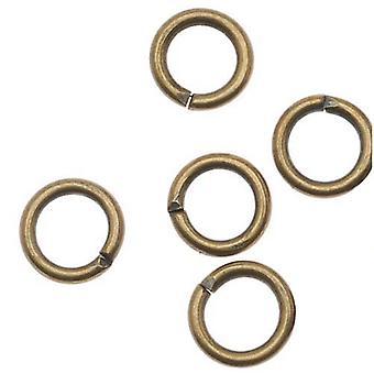 Endelig Salg - Antiqued Brass Open Jump Ringe 6mm 18 Gauge (x100)