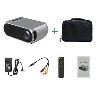 Veidadz YG320 Mini LED-projektori säilytyspussilla - Screen Beamer Home Media Player Hopea