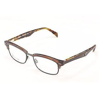 John Galliano Eyeglasses Frame JG5017 092 Brown Plastic Metal Italy 52-17-140