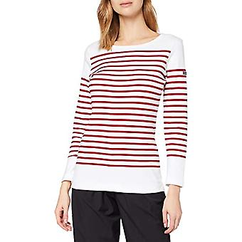 Armor Lux Mariniere AMIRAL T-Shirt, Multicolored (320 Blanc/Braise 320 Blanc/Braise), 44(Size Manufacturer: 2) Woman