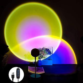 USB LED Indoor Romantic Sunset Projection Lamp (Sun)