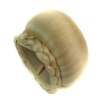 Braided Clip In Hair Bun Hair Chignon Matte Synthetic Hair