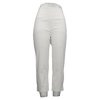 Kvinder med kontrol Regelmæssig Mave Control Prime Stretch Crop Jeans White Small