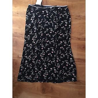 Retro Vintage- Floral Mermaid Streetwear, Long Skirt