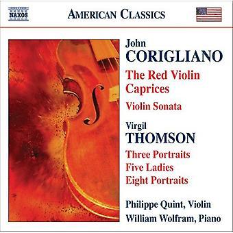 Corigliano/Thomson - John Corigliano: The Red Violin Caprices [CD] USA import