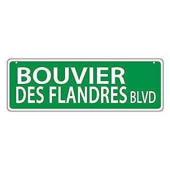 שלט רחוב, פלסטיק, שדרות בובייה דה פלנדרס, 17 אינץ' X 6 אינץ'