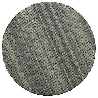 vidaXL Puutarhapöytä Harmaa 60,5x106 cm Poly Rattan