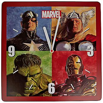Marvel Avengers Character Grid Shaped Clock