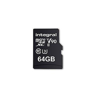 Beépített 64 GB-os micro SD kártya UHS II MicroSDXC Cl10 UHS 2 U3 V90 R-280 W-240 Mb/s