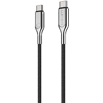 Cygnett CY2677PCTYC Armoured 2.0 USB-C to USB-C (5A/100W ) Cable 1M- Black