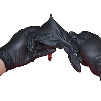 Mănuși negre din nitril de unică folosință