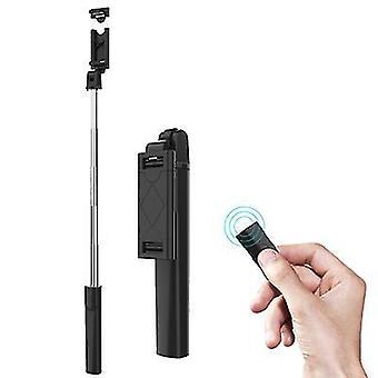 3 in 1 taitettava langaton Bluetooth Selfie Stick Laajennettava kämmentietokoneen monopod (musta)