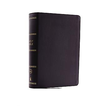 NKJV Compact SingleColumn Reference Bible Genuine Leather Black Comfort Print  Holy Bible New King James Version by Thomas Nelson