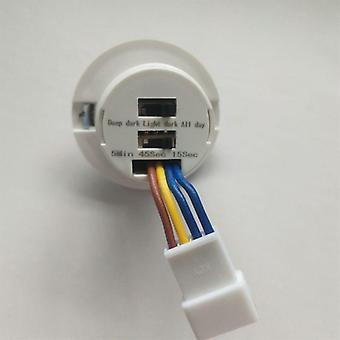 Détecteur de pir led, commutateur de capteur de mouvement infrarouge avec délai, réglable
