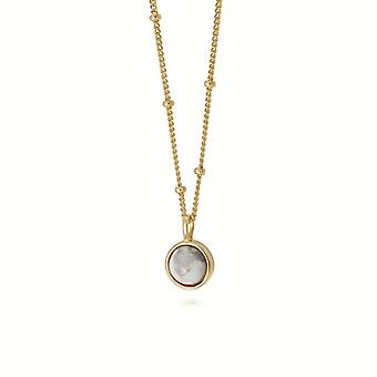 Daisy Howlite Healing Stone 18ct Gold Plate Necklace HN1006_GP
