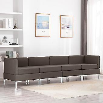 vidaXL 4 pcs. Sofa set fabric Taupe