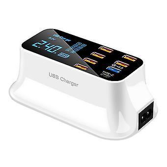 8 منافذ الشحن السريع 3.0 LED شاشة USB شاحن لأجهزة شحن الهاتف اللوحي شاحن سريع