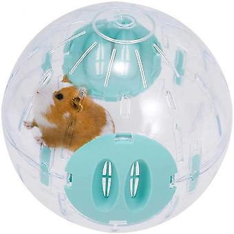 Hamster running ball 6in kleine huisdier plastic joggen oefening speelgoed (blauw)
