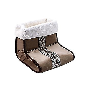 Plug-in Electric Heating Pad Foot Warmer Office Bedroom Heating Pad Foot Warmer(Brown)