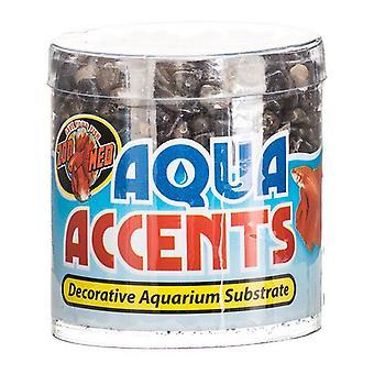 Zoo Med Aquatic Aqua Accents Akvaario Substraatti - Dark River Pikkukiviä - .5 lbs