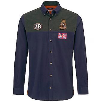 Hackett GB Badge Oxford Shirt