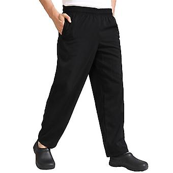 Cook Loose Trousers Kitchen Catering Polyester Baggy Chef Pants