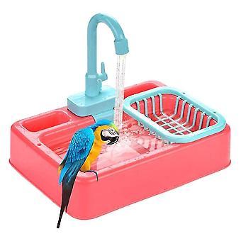 Madár játékok madár etető automatikus papagáj kád fürdő zuhany víz adagoló madár ketrec fürdőszoba papagáj játékok