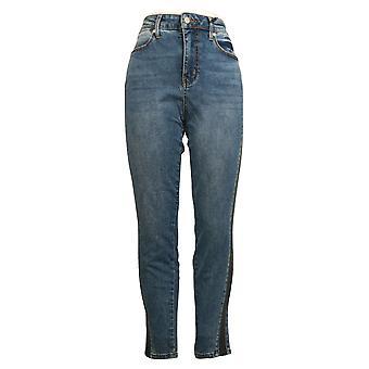 Colleen Lopez Women's Jeans Side Stripe Skinny Blue 695902