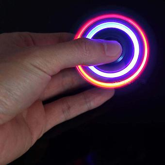 Powerful Wonderful Fingertip Metal With Led Light Hand Spinner Relieve Stress