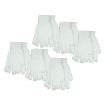 6 Paar Winterhandschuhe Classic Gestrickte Warme Handschuhe Solid Black Cool