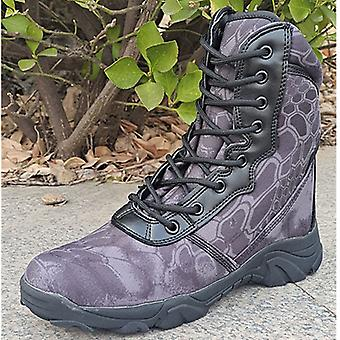 Black Python Tactical Military Boots Land Warfare Mountaineering Shoes 44# Within 266-270mmof The Foot Length