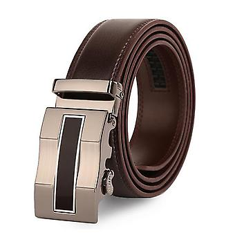 Mile Wavy Pattern Headed Two-layer Cowhide Men's Belt
