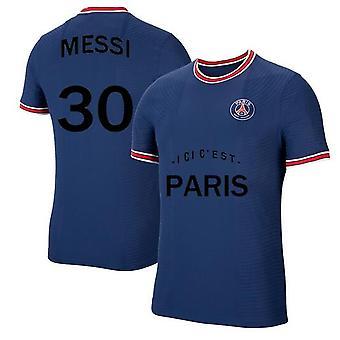 Мужская футбольная майка Париж 2021-2022 Сезон #30 Месси Псг Джерси Выездной футбол Футбол Футбол Спортивные футболки Размер S-xxxl
